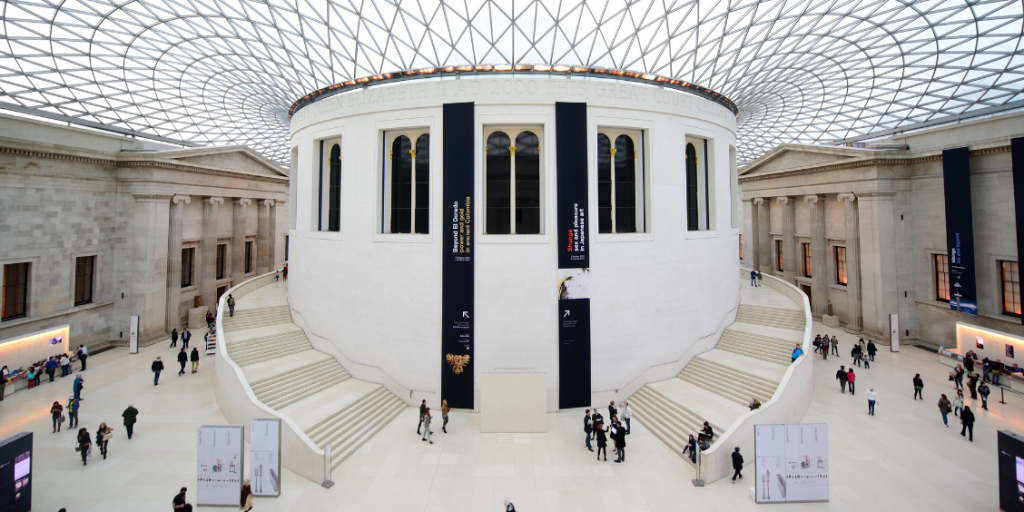 An image of the main atrium in the British Museum